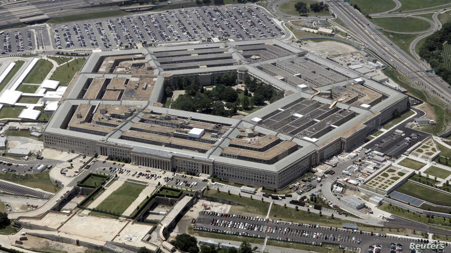 FILE - An aerial view of the Pentagon building in Washington, June 15, 2005.