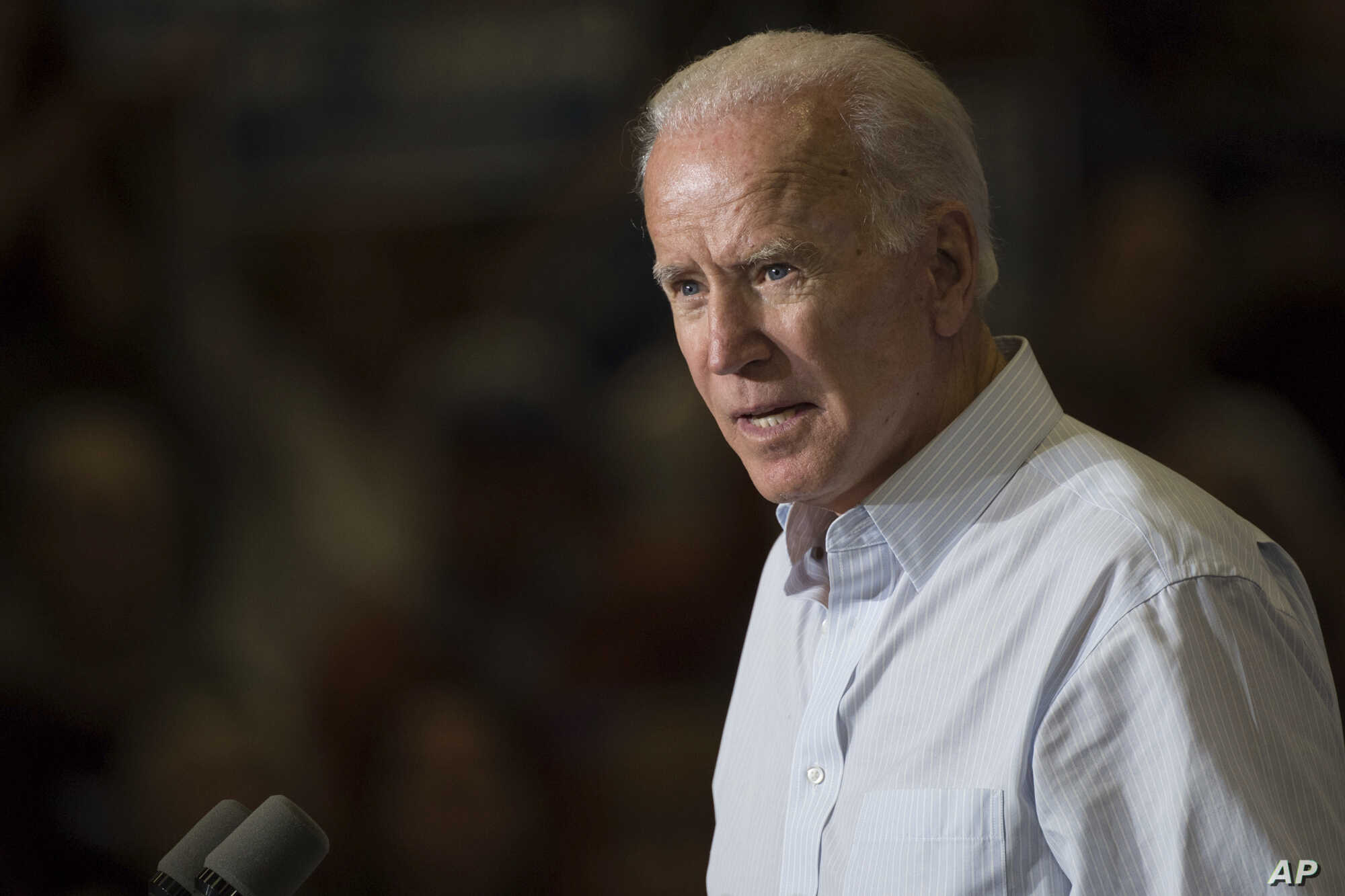 Former vice president Joe Biden speaks during a campaign event for Kentucky democratic congressional candidate Amy McGrath in Owingsville, Kentucky, Oct. 12, 2018.