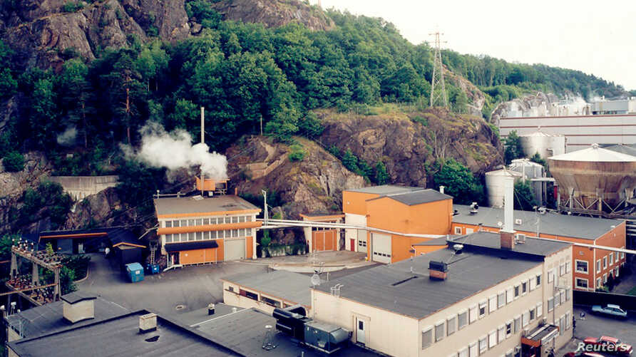 An undated third-party handout photo gives a view of the nuclear power plant in Halden, Norway.