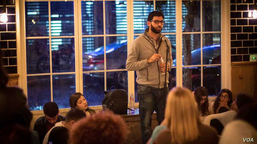 Having been to many storytelling events, Maytham Khassir decided to tell his own  story - the murder of his aunt by his aunt's ex-husband.