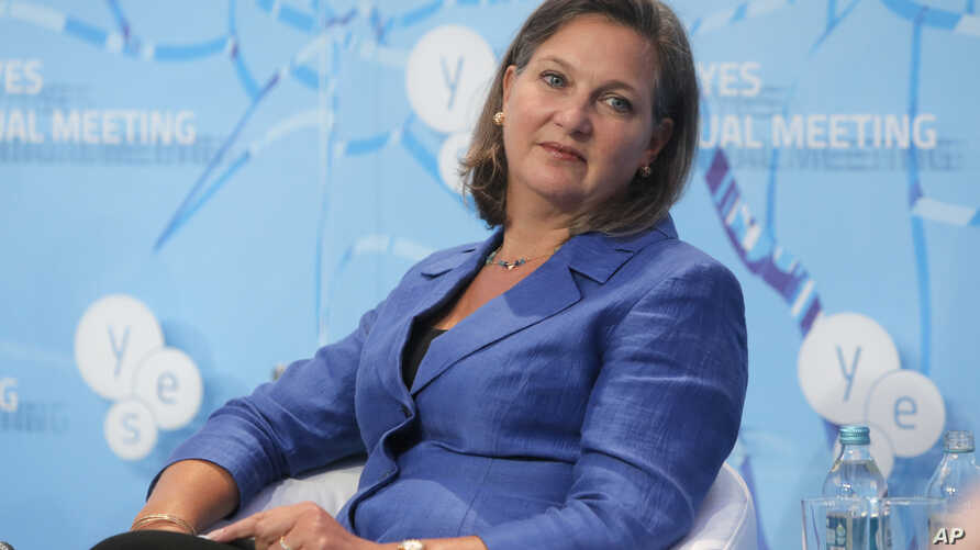Victoria Nuland, assistant U.S. secretary of state for European and Eurasian affairs, participates in discussions on Ukraine and other global challenges, organized by the Yalta European Strategy at the Mystetsky Arsenal Art Center in Kiev, Ukraine, S