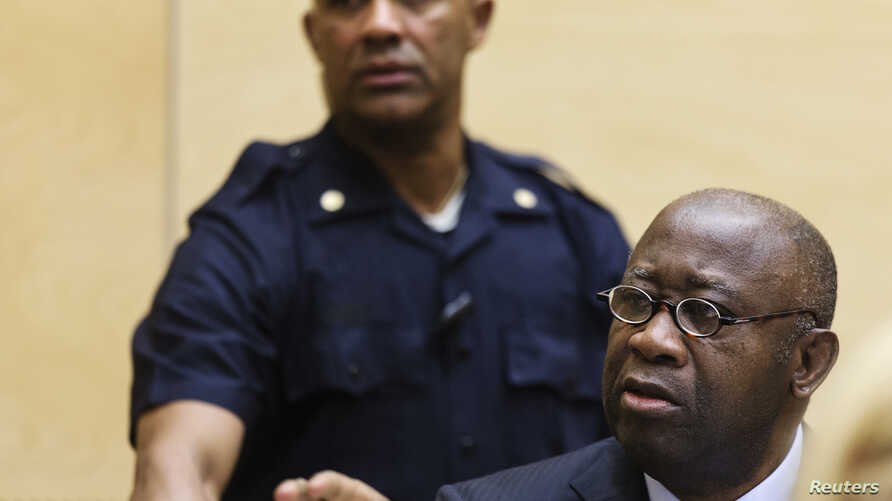 Former Ivory Coast President Laurent Gbagbo attends a confirmation of charges hearing in his pre-trial at the International Criminal Court in The Hague, Feb. 19, 2013.