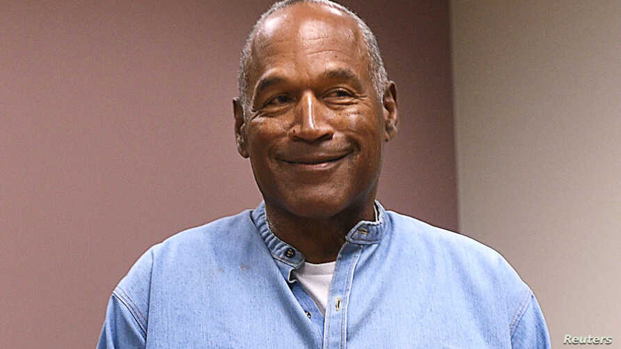 O.J. Simpson arrives for his parole hearing at Lovelock Correctional Center in Lovelock, Nevada, July 20, 2017.