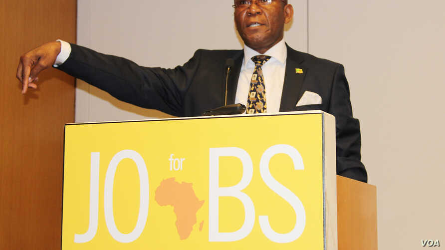 Robert Sichinga, Zambia's Minister of Commerce, Trade and Industry at the Africa Business Investment Forum in New York.