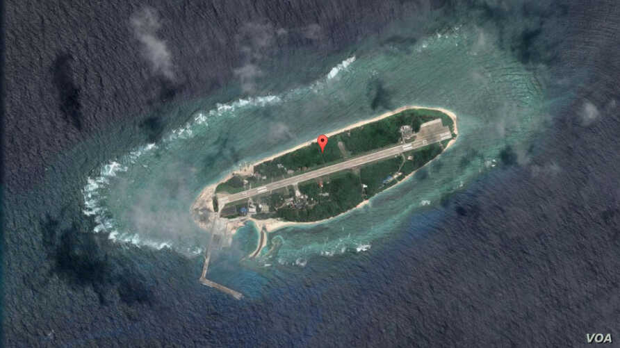 Google Map image of Taiping Island in the South China Sea, Sept. 22, 2016.