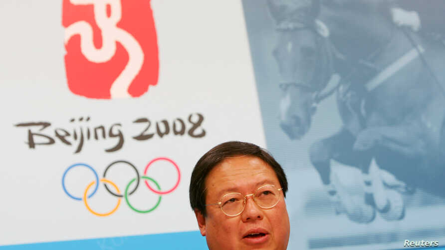 On July 8, 2005, Hong Kong's Secretary for Home Affairs Patrick Ho speaks during a news conference, announcing that the equestrian events at the 2008 Beijing Olympics would be staged in Hong Kong