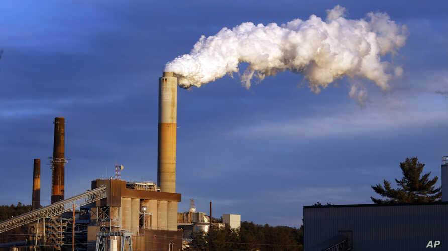 FILE - Steam billows from the coal-fired Merrimack Station in Bow, N.H., Jan. 20, 2015.