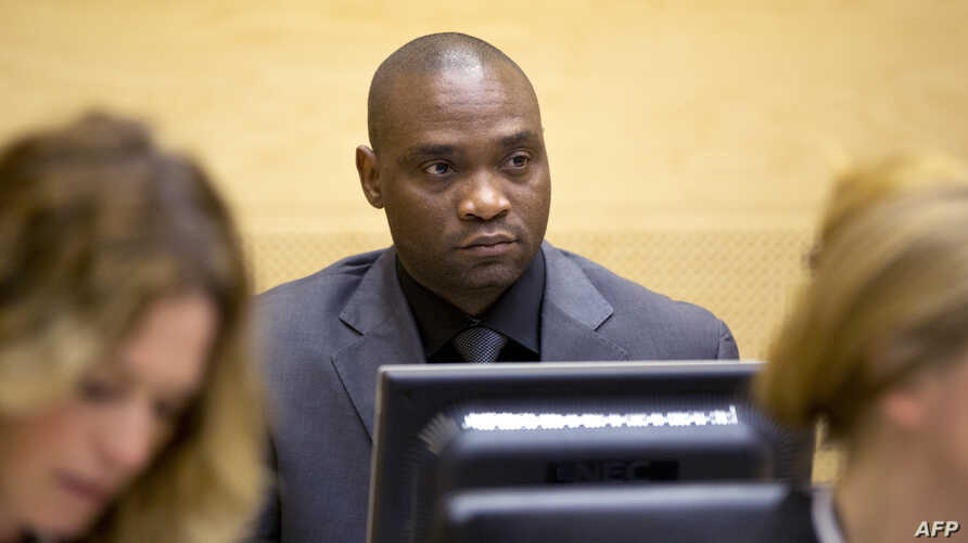 Germain Katanga, a Congolese National, sits during his trial at the International Criminal Court (ICC) in the Hague, May 23, 2014.