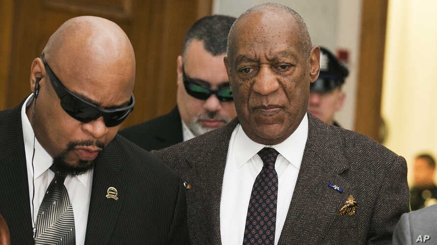 Actor and comedian Bill Cosby arrives for a court appearance in Norristown, Pennsylvania, Feb. 3, 2016.