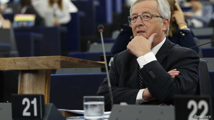 Designated president of the European Commission Jean-Claude Juncker attends a debate on his election at the European Parliament in Strasbourg, July 15, 2014.