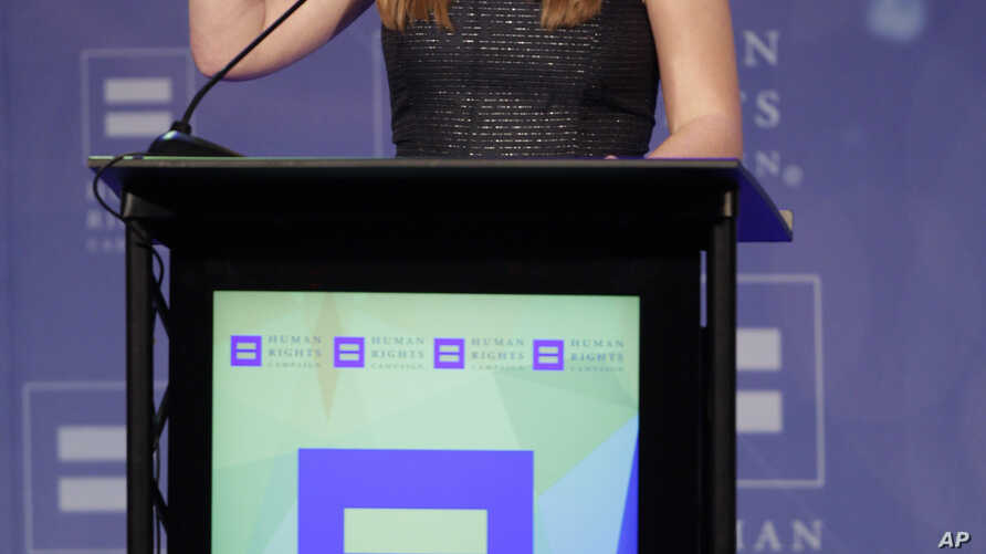 FILE - Sarah McBride, pictured at a Human Rights Campaign event in Nashville, Tenn., in March 2016, will be the first openly transgender person to address a national convention of either U.S. political party.