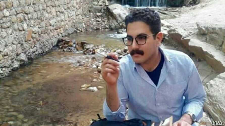 Iranian rights groups say civil society activist Mohammad Davari, seen here in this undated photo shared on social media, was arrested Aug. 10, 2018 in the west-central city of Yasuj, following his earlier brief detention in March 2018 on charges of