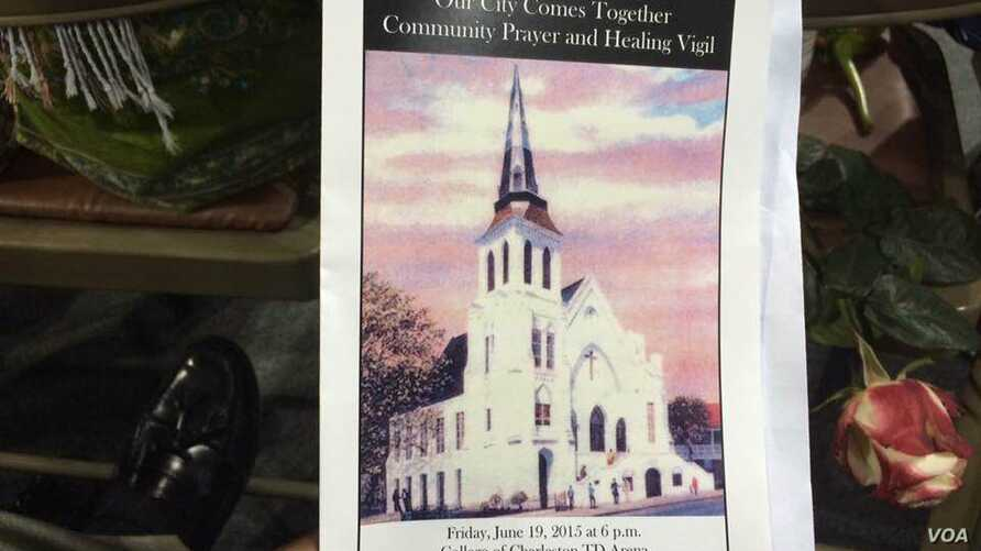 A program from one of the memorial services for the Charleston victims. Toby Smith was one of the 5,000 people at Charleston's TD Arena at the funeral for the nine parishioners last June, where President Obama delivered a eulogy. (Credit: Toby Smith)