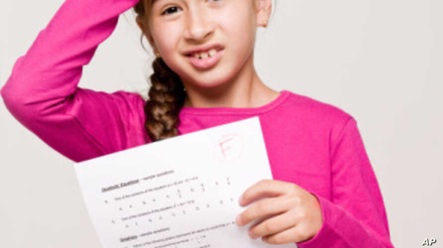 """A student holds a test with the failing letter grade of """"F"""