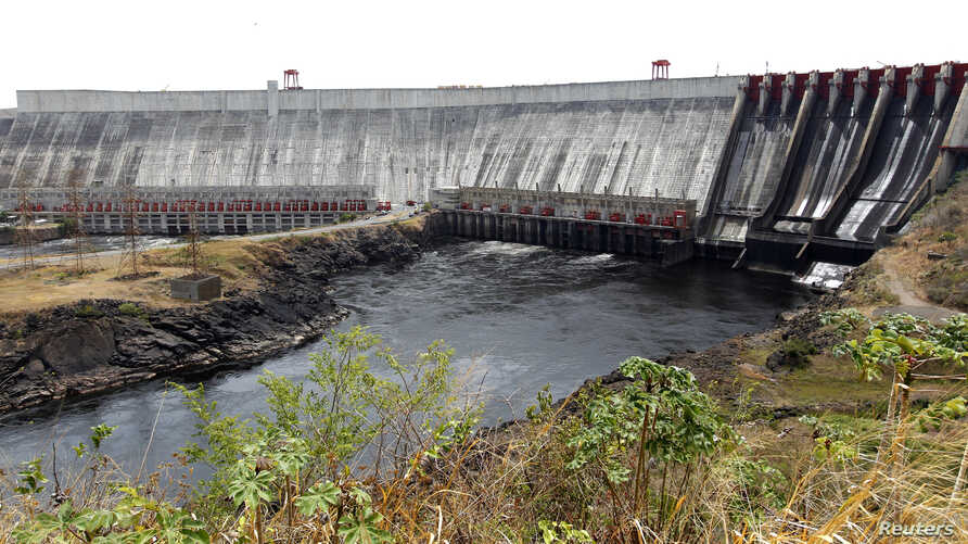 FILE - A view of Guri dam and the Simon Bolivar Hydroelectric Power Station, in the southern state of Bolivar, Feb. 26, 2010. Venezuelan President Hugo Chavez this month declared a state of emergency in the electric sector, after the drought reduced