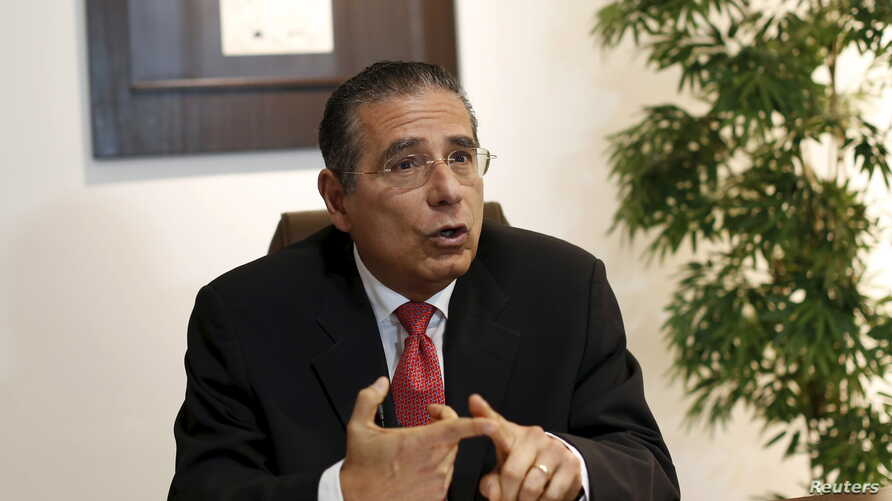 Ramon Fonseca, founding partner of law firm Mossack Fonseca, gestures during an interview with Reuters at his office in Panama City, April 5, 2016.