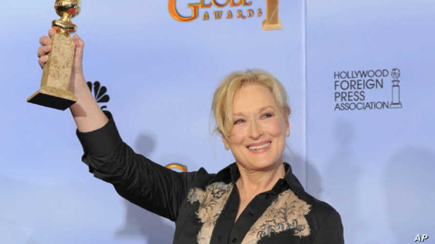 "Meryl Streep won a Golden Globe for best actress in a motion picture drama for ""The Iron Lady,"" and is also nominated for an Oscar."