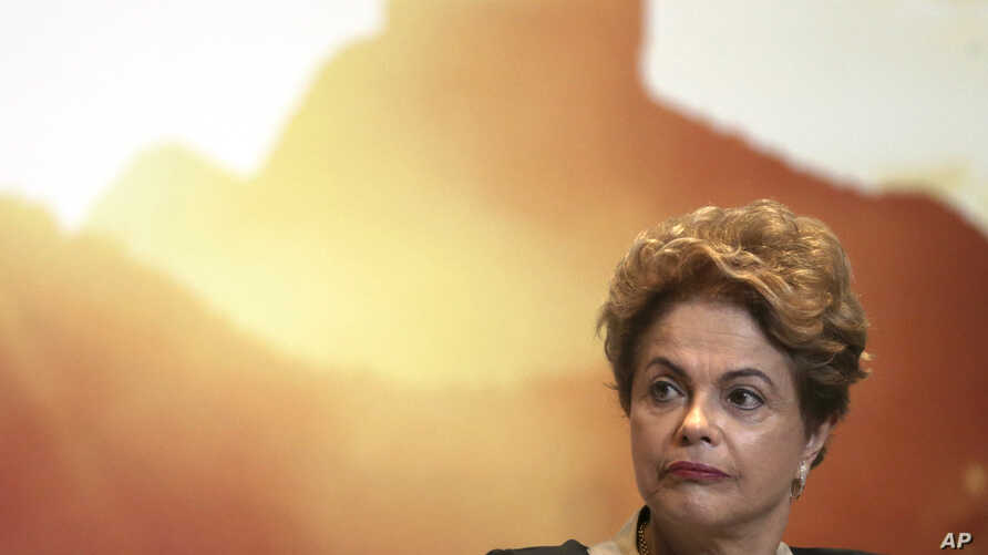 "Brazil's President Dilma Rousseff attends an event launching the ""Olympic Year for Tourism"" in Brasilia, Brazil, Oct. 7, 2015."