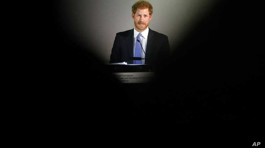 Britain's Prince Harry speaks during the inaugural Endeavour Fund Awards ceremony in London, Jan. 17, 2017.