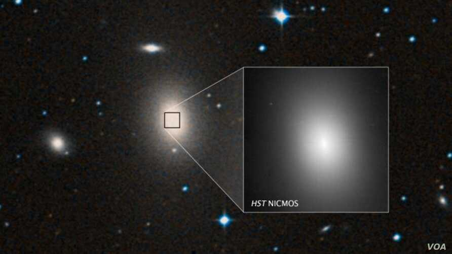 Super-Massive Black Hole Shows Up in Galaxy Backwater