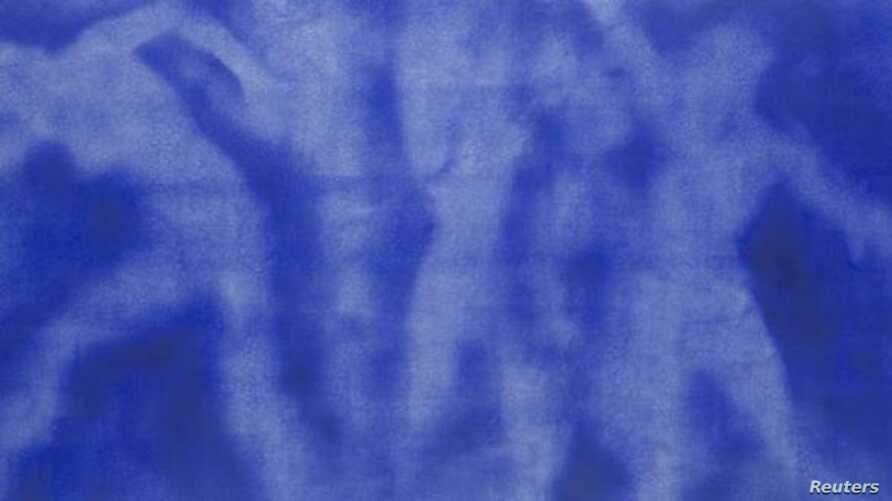 """A handout picture shows the painting """"Hiroshima"""" by Yves Klein, which is on display in the show """"Experiments in Truth: Gandhi and Images of Nonviolence,"""" which runs until Feb. 1, 2015, at The Menil Collection museum in Houston, Texas."""
