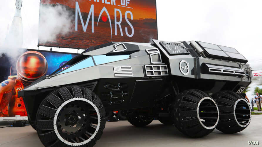 NASA has unveiled a Mars rover concept vehicle, parts of which may be used on the Mars 2020 rover.