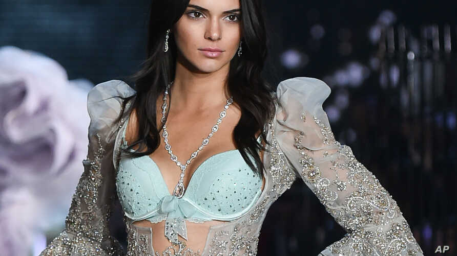 FILE - In this Nov. 10, 2015, file photo, model Kendall Jenner walks the runway during the 2015 Victoria's Secret Fashion Show at the Lexington Armory in New York.