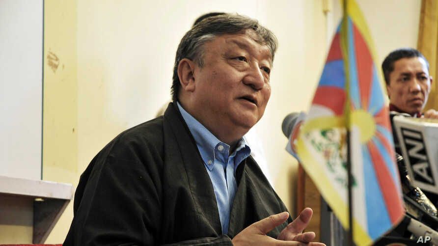 "The Dalai Lama's special envoy Lodi Gyari addresses a press conference in Dharmsala, India, May 8, 2008.  The Dalai Lama's envoys and Chinese officials ""disagreed more than we agreed"" at weekend talks on how to move beyond the unrest in Tibet, Gyari"