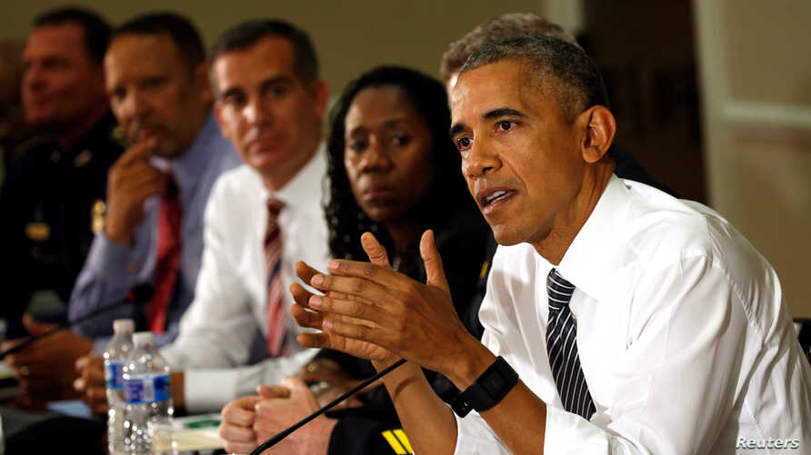 U.S. President Barack Obama hosts a conversation on community policing and criminal justice at the White House in Washington, D.C., July 13, 2016.