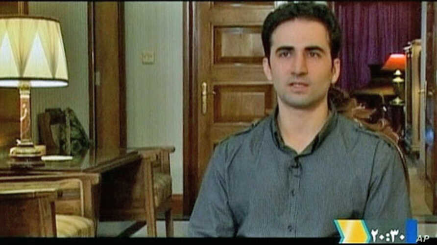 Iranian-American Amir Mirza Hekmati, who has been sentenced to death by Iran's Revolutionary Court on the charge of spying for the CIA, speaks during a recorded interview in an undisclosed location, in this undated still image taken from video by Reu