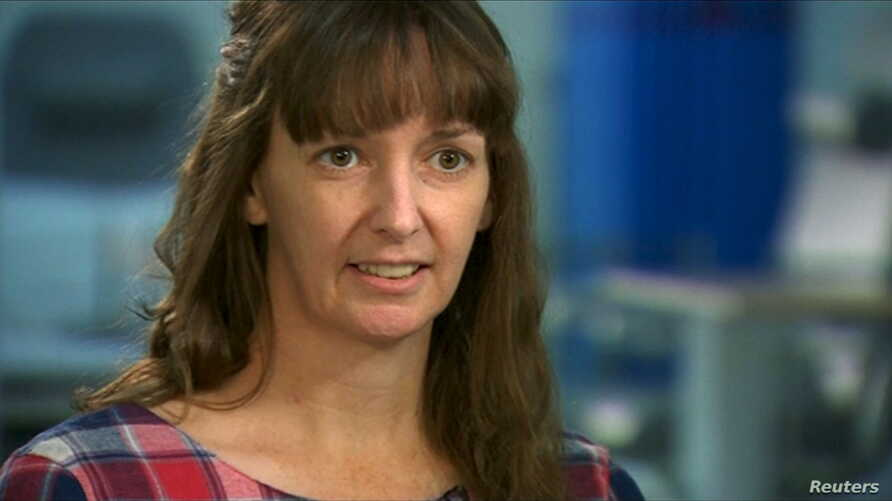 FILE - British nurse Pauline Cafferkey, shown in a January interview, has suffered a relapse of Ebola, which she contracted last year in Sierra Leone. She's being treated in a London hospital, where doctors say her condition is improving.