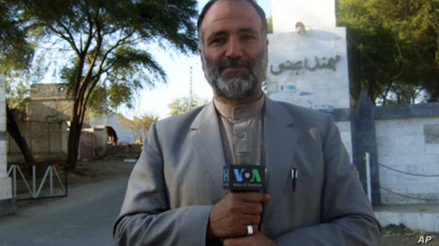VOA reporter Mukarram Khan Aatif shown in northwest Pakistan in January 2012. The Pakistani Taliban claimed responsibility for killing Aatif in a mosque in Shabqadar, some 35 kilometers from Peshawar.