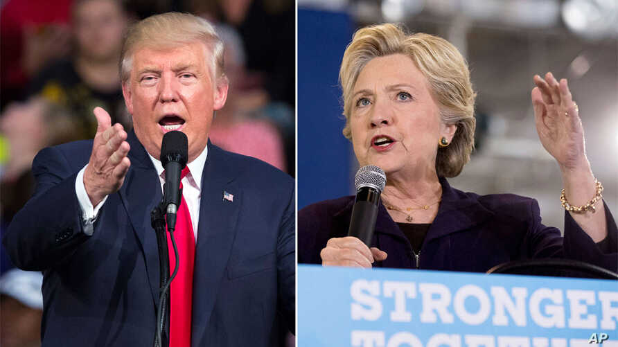 Candidates Donald Trump and Hillary Clinton campaign the day after their second debate.