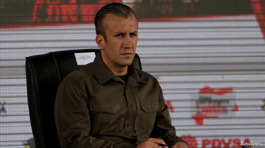 Venezuela's Vice President Tareck El Aissami attends the swearing-in ceremony of the new board of directors of Venezuelan state oil company PDVSA in Caracas, Venezuela Jan. 31, 2017.