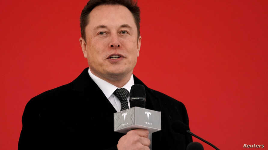 FILE - Tesla CEO Elon Musk attends the Tesla Shanghai Gigafactory groundbreaking ceremony in Shanghai, China January 7, 2019.