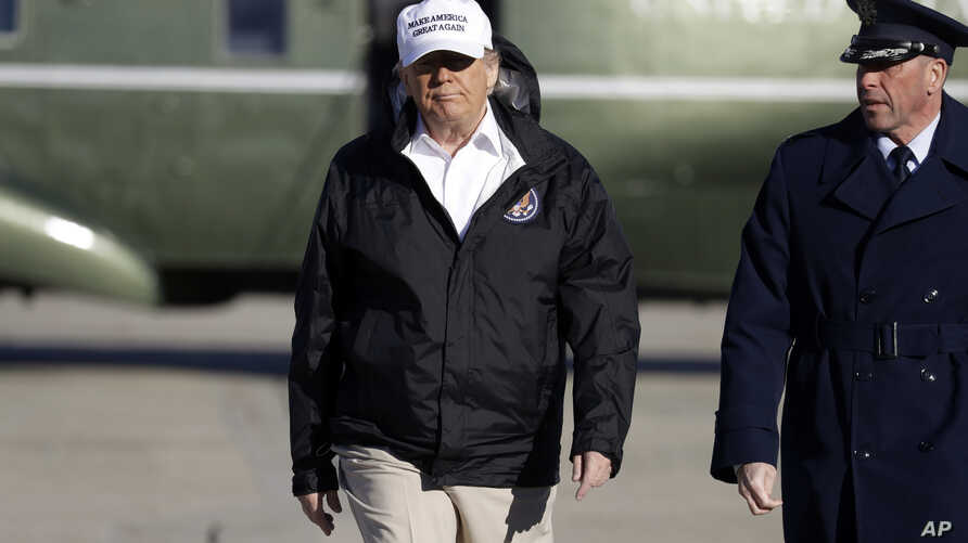 President Donald Trump walks to board Air Force One for a trip to the southern border, Jan. 10, 2019, in Andrews Air Force Base, Md.