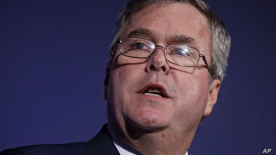 Former Florida Gov. Jeb Bush speaks at the American Legislative Exchange Council's 40th annual meeting, Friday, Aug. 9, 2013, in Chicago