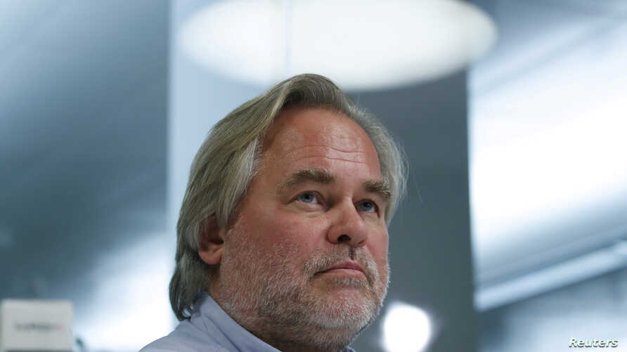 FILE PHOTO: Eugene Kaspersky, Chief Executive of Russia's Kaspersky Lab, looks on during an interview with Reuters in Moscow, Oct. 27, 2017.