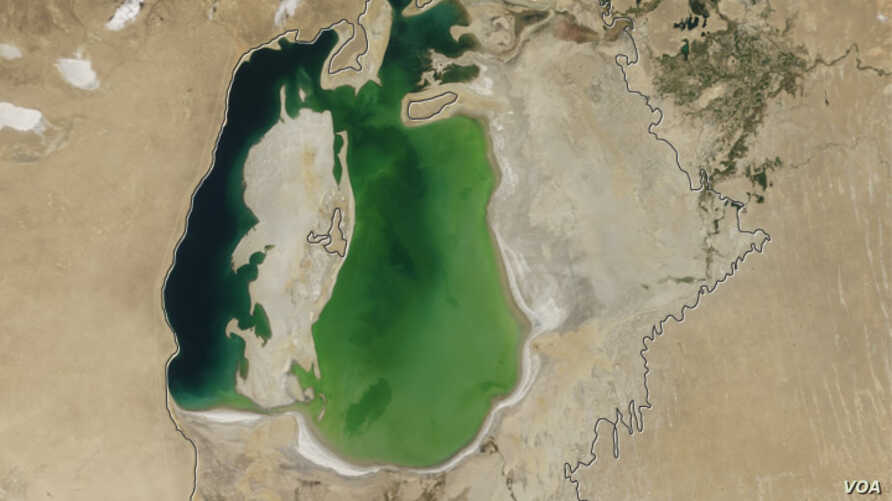 The Aral Sea: Now and in 1960.