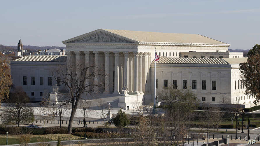 FILE - The U.S. Supreme Court in Washington, as seen from the roof of the U.S. Capitol.