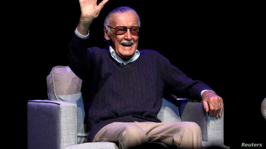 """ILE PHOTO: Marvel Comics co-creator Stan Lee attends a tribute event """"Extraordinary: Stan Lee"""" at the Saban Theater in Beverly Hills, California, Aug. 22, 2017."""