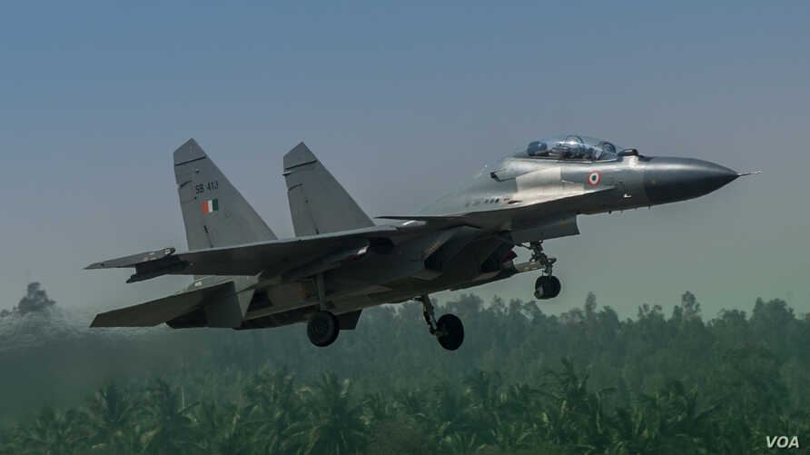 FILE -- A fighter jet with the Indian Air Force. (Photo by Flickr user Bikash Das via Creative Commons license)