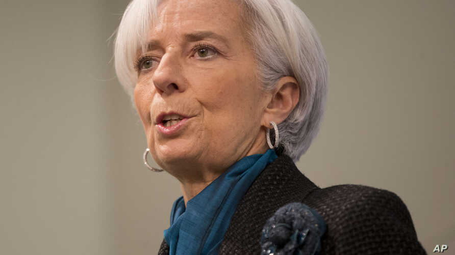 International Monetary Fund (IMF) Managing Director Christine Lagarde speaks at the Council on Foreign Relations in Washington, Jan. 15, 2015.