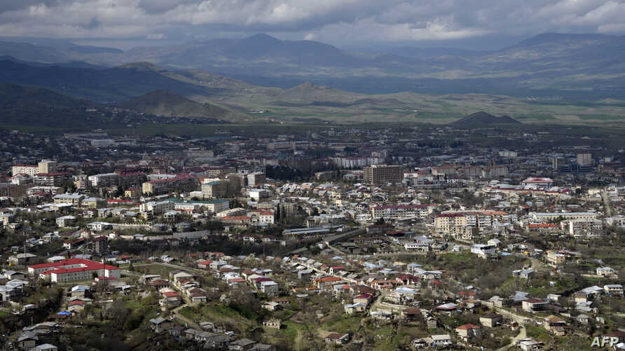 A view of Stepanakert, the unrecognised capital of Armenian-seized Azerbaijani region of Nagorny Karabakh on April 4, 2016.