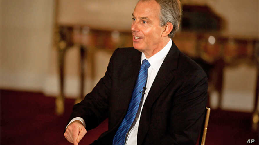 Former British Prime Minister Tony Blair during a VOA interview, 23 Mar 2010