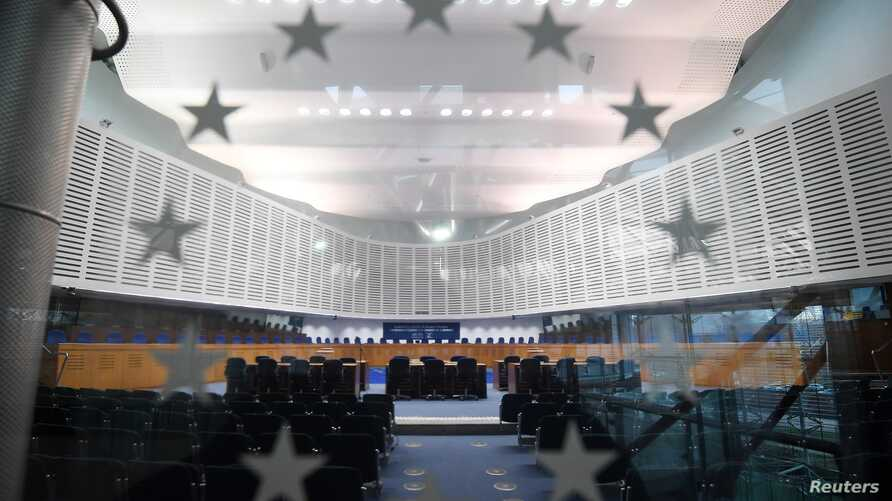 This photo shows the inside of the European Court of Human Rights (ECHR) in Strasbourg, eastern France, on Feb. 7, 2019.