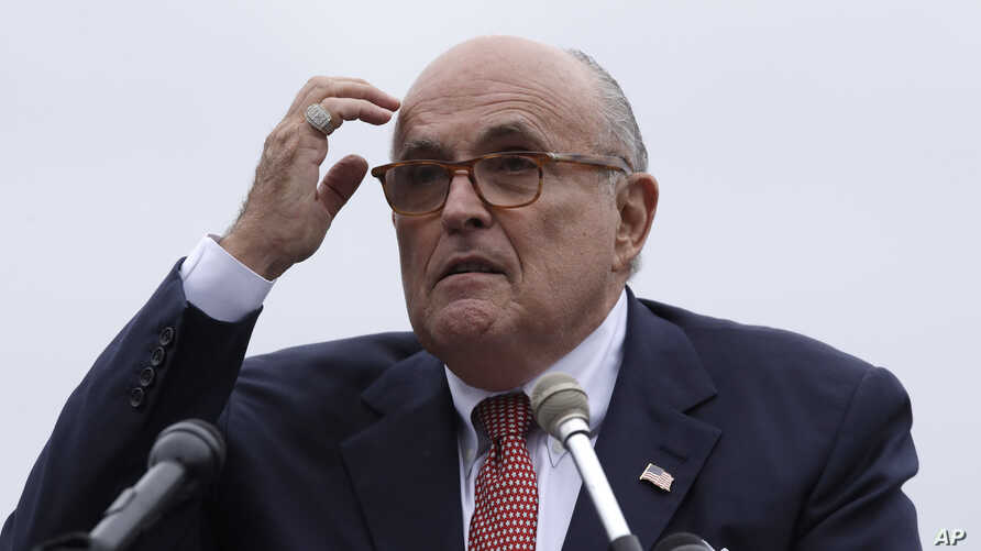 Rudy Giuliani, an attorney for President Trump, during campaign event for Eddie Edwards, who is running for the U.S. Congress in New Hampshire, in Portsmouth, N.H., Aug. 1, 2018.