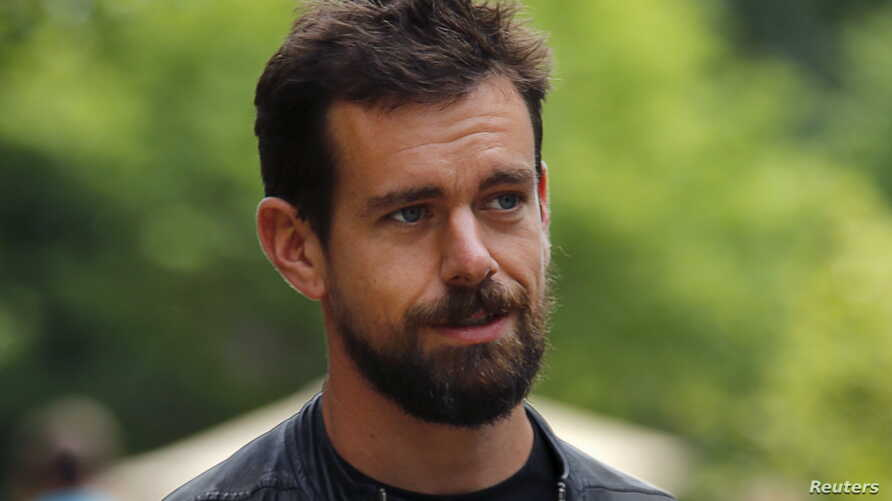 FILE - Jack Dorsey, newly-appointed CEO of Twitter and CEO of Square, is seen in a July 8, 2015, photo.