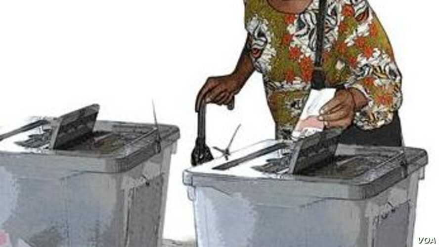 Sierra Leonean woman votes (Photo: Sierra Leone National Electoral Commission)