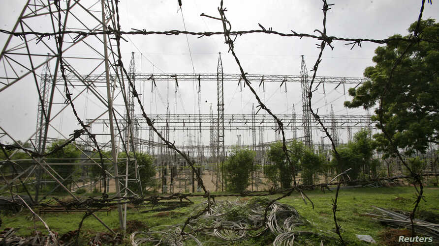 A general view of an electric power station on the outskirts of Jammu, July 31, 2012.
